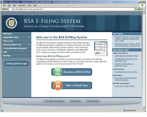 BSA E-Filing Public Home Page